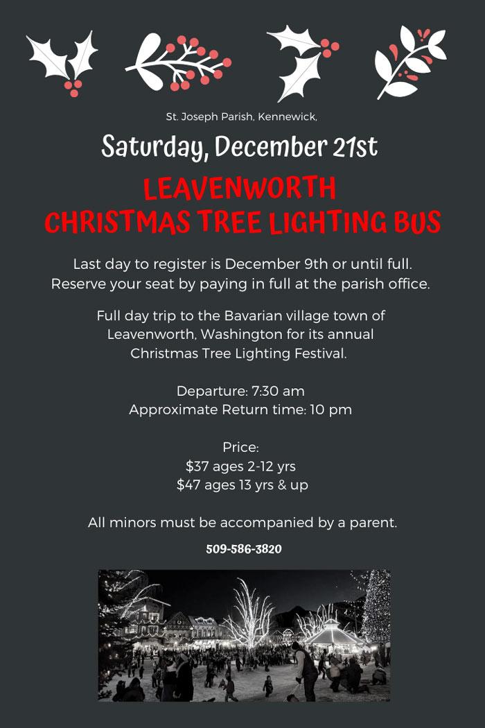 Leavenworth Christmas Tree Lighting Bus