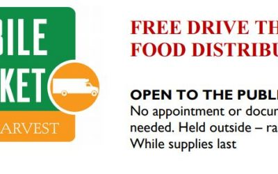 FREE DRIVE THROUGH FOOD DISTRIBUTION